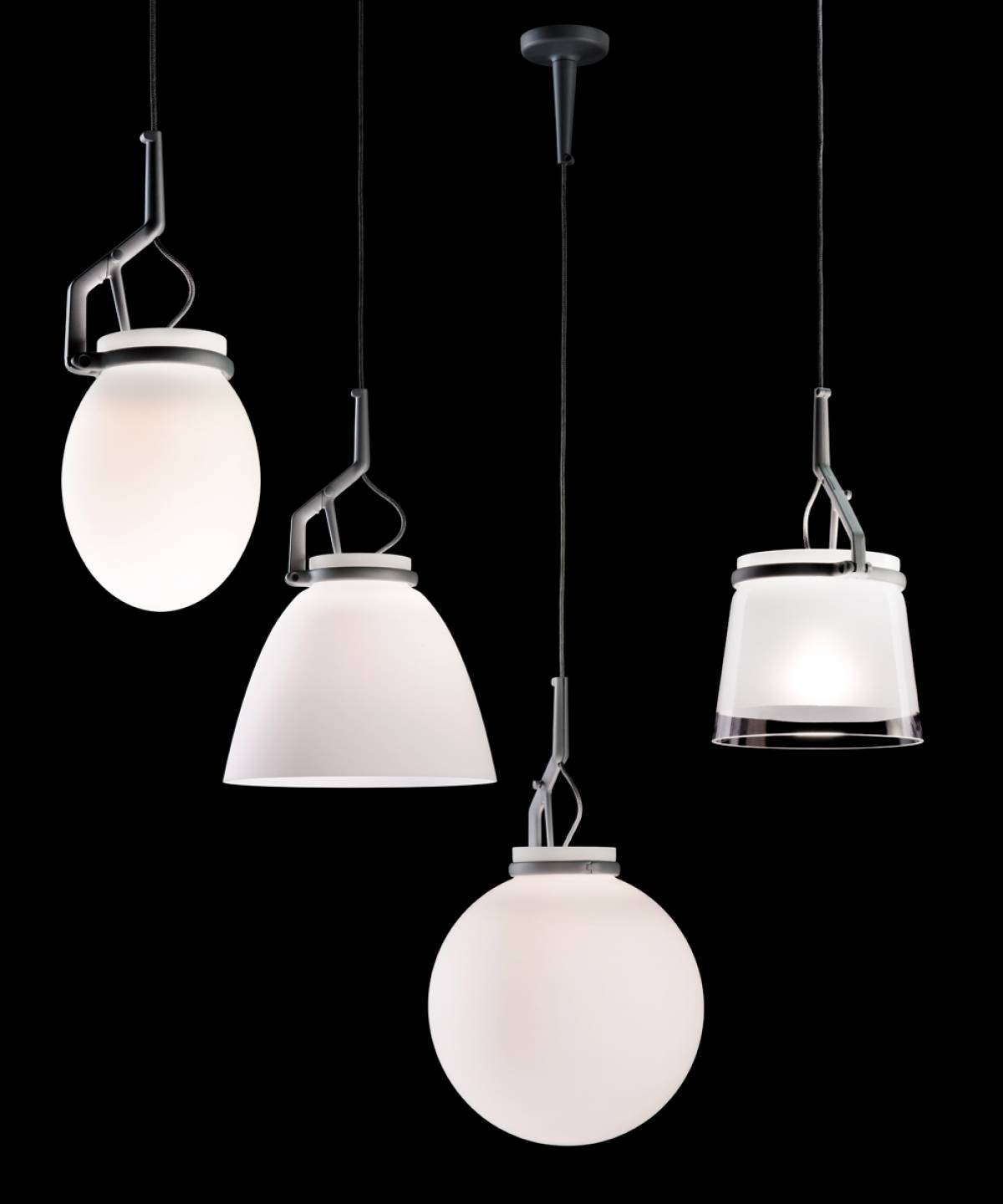 2 GlassGlass suspension lamp Luceplan