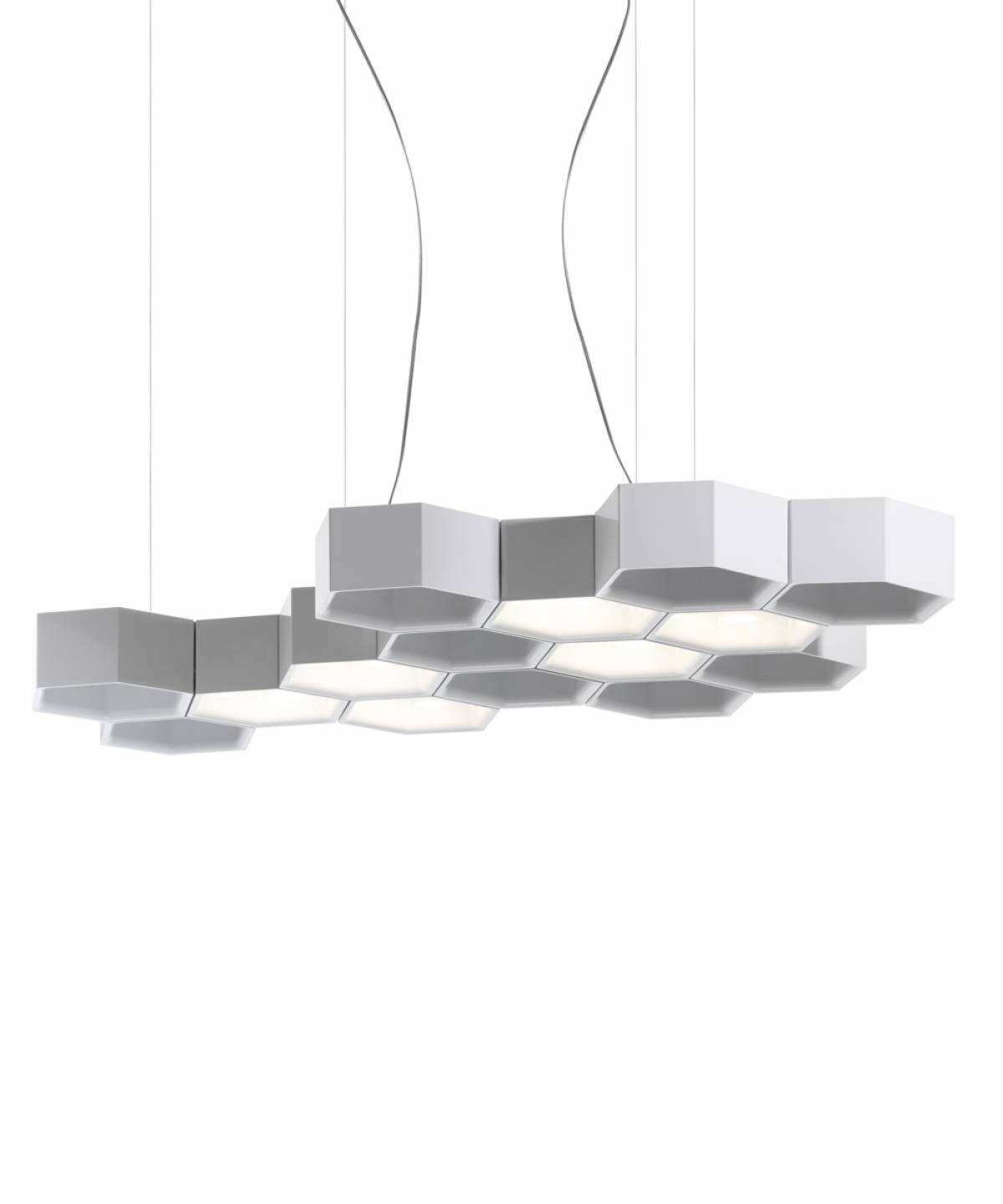 2 Honeycomb suspension lamp Luceplan