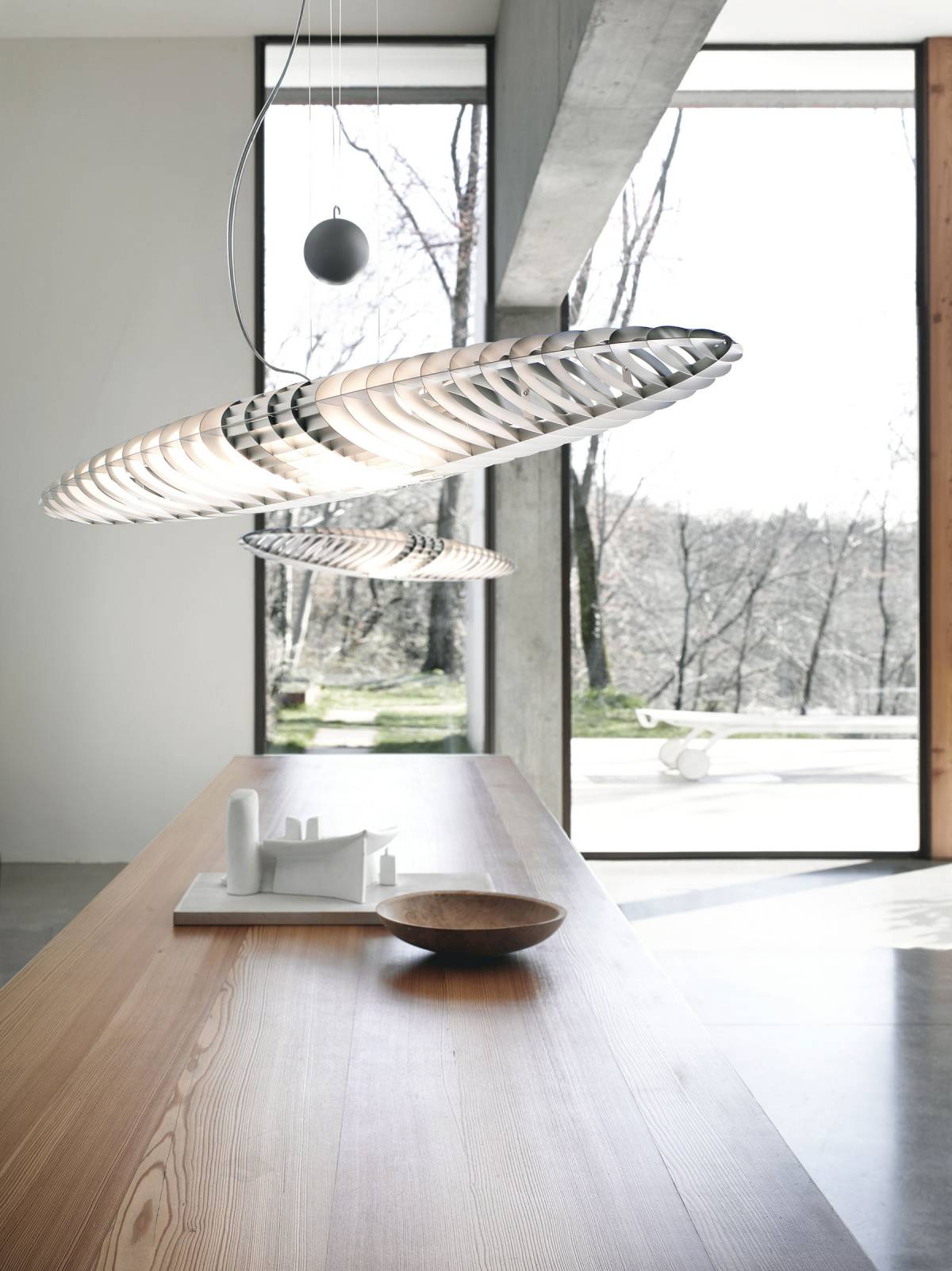 Titania suspension lamp Luceplan