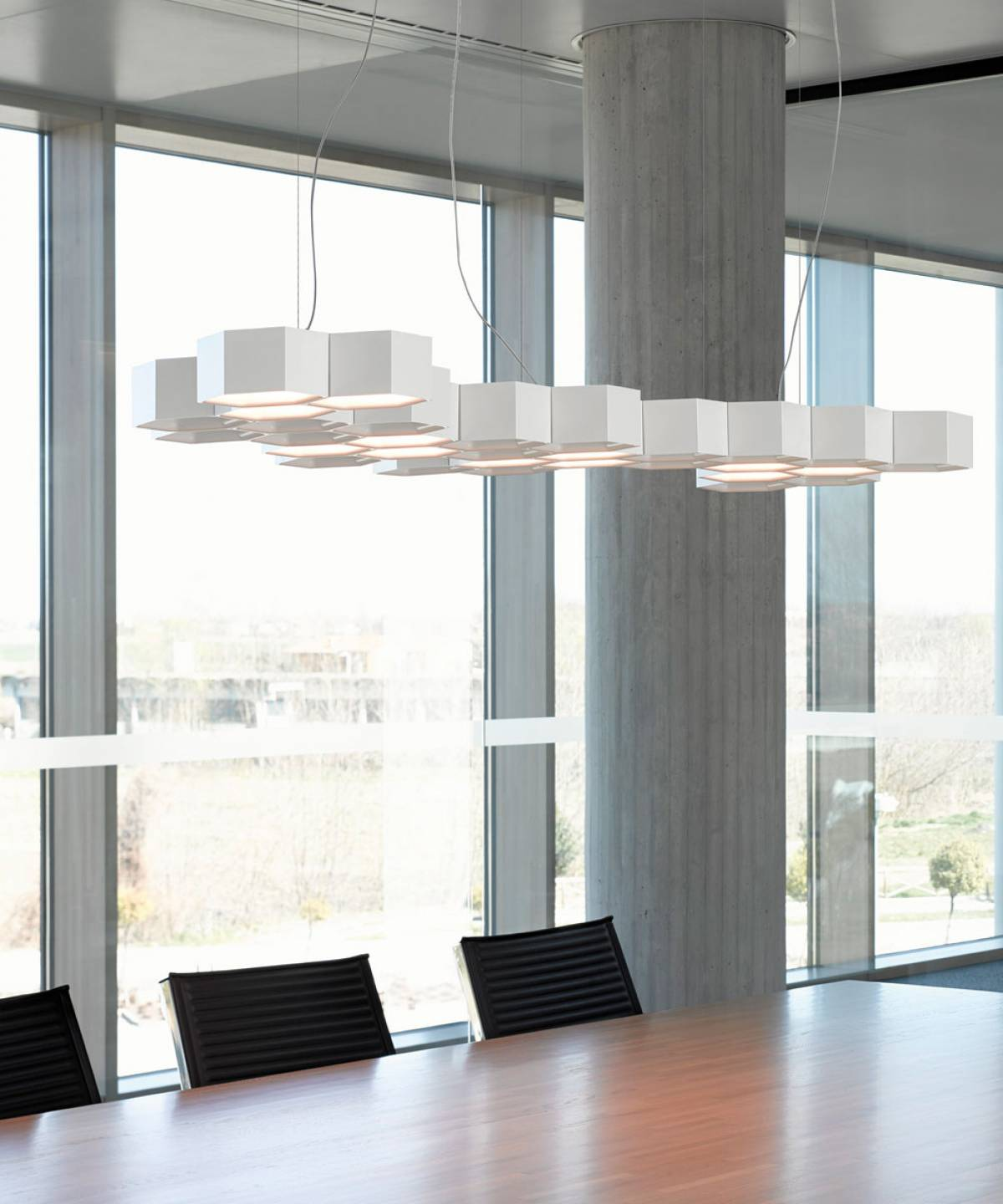 Honeycomb suspension lamp Luceplan