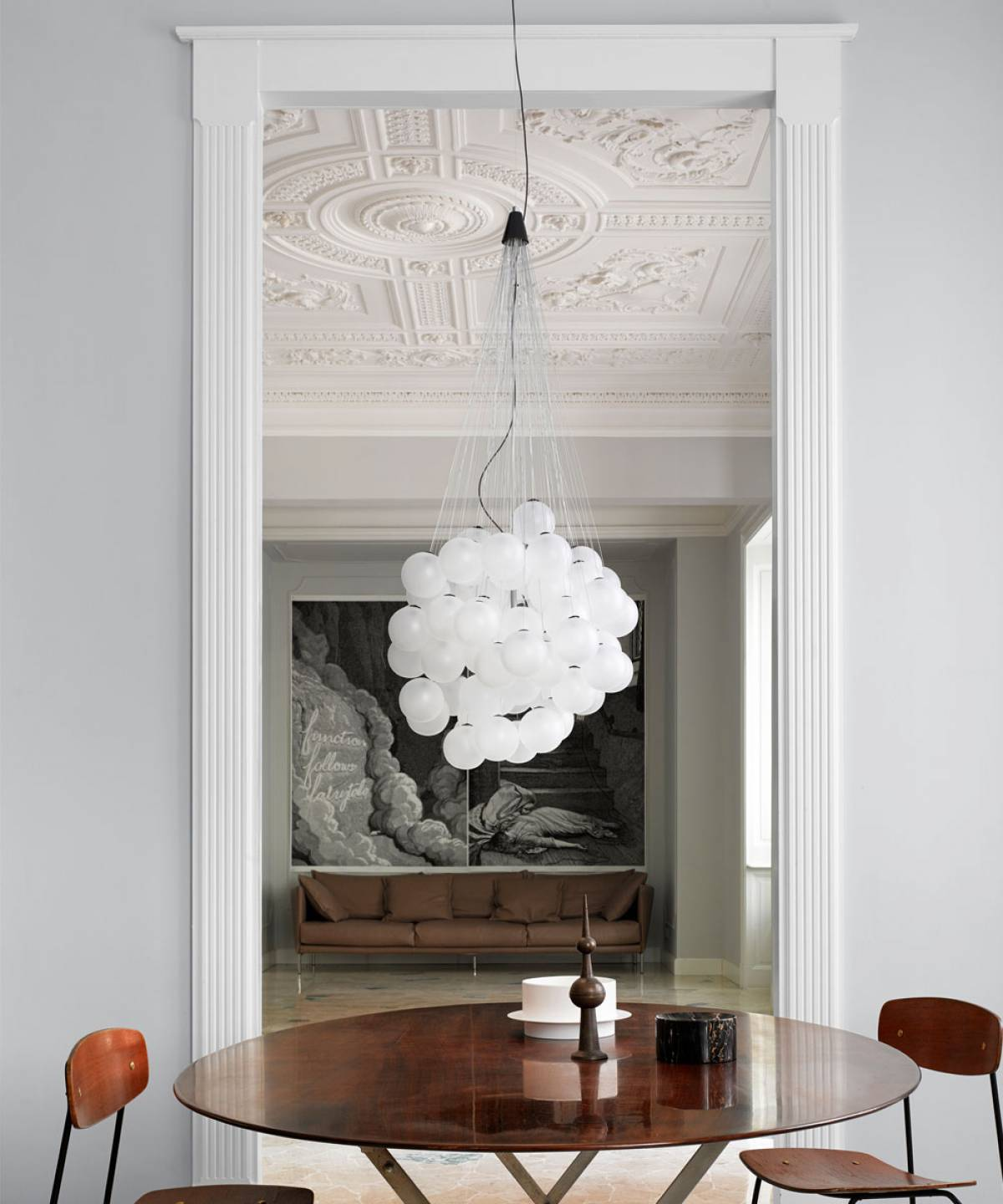 2 Stochastic suspension lamp Luceplan